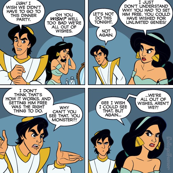 Aladdin and Jasmine, happily never after