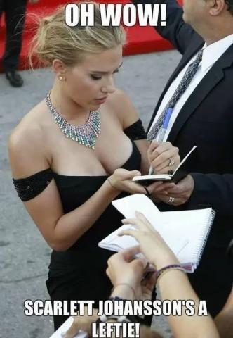 Scarlett is a leftie